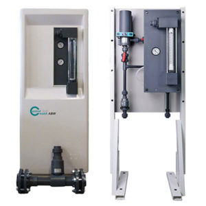 Floor mounted chlorinator system MR 520 RC, MR 540 RC, MR 550 RC