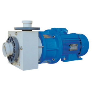 Horizontal close-coupled plastic pump equipped with mechanical seal HMP-N/S