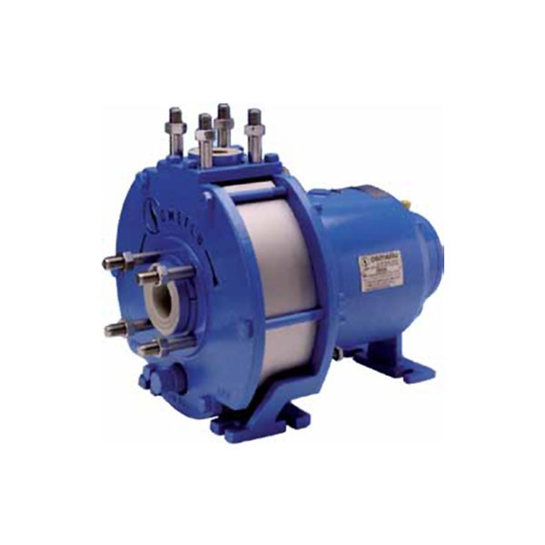 Horizontal mag-drive plastic process pump