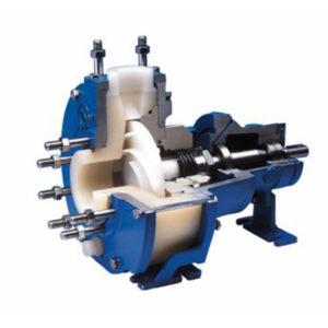 Horizontal plastic process pump