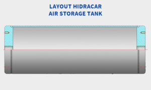 Layout Hidracar Air Storage Tank