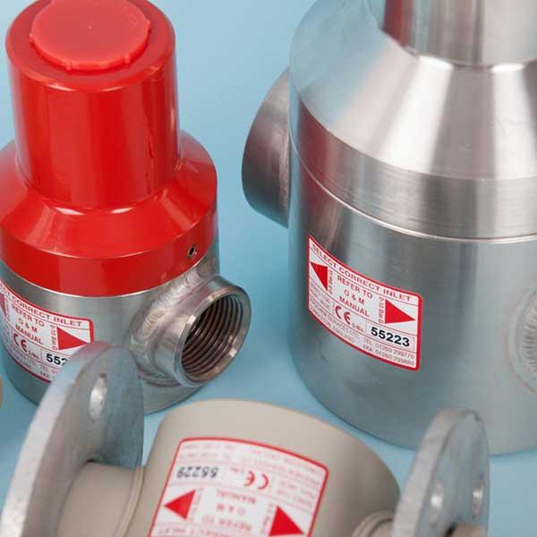 Pressure loading valves