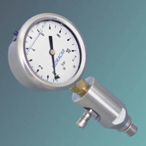 """""""T"""" Adapters With Pressure Gauge"""