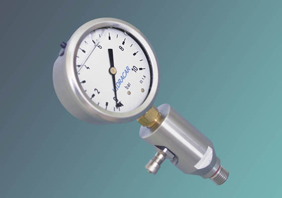 """T"" Adapters With Pressure Gauge"